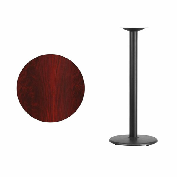 Clio Round Laminate Pub Table by Symple Stuff