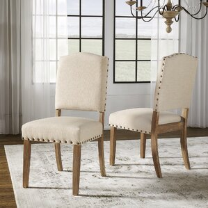 pompon nailhead side chair set of 2
