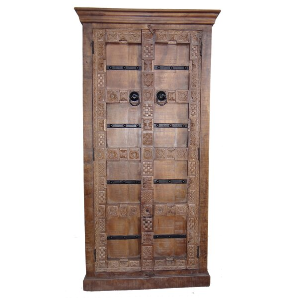Miley Carved Wooden 4-Shelf Accent Cabinet by Millwood Pines
