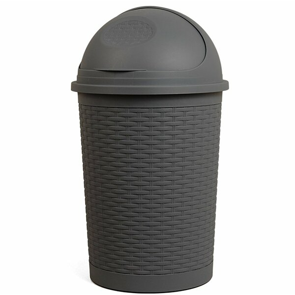 Round Roll Up 10 Gallon Swing Top Trash Can by Superior Performance