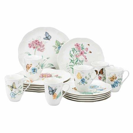 Butterfly Meadow 18 Piece Dinnerware Set, Service for 6 by Lenox