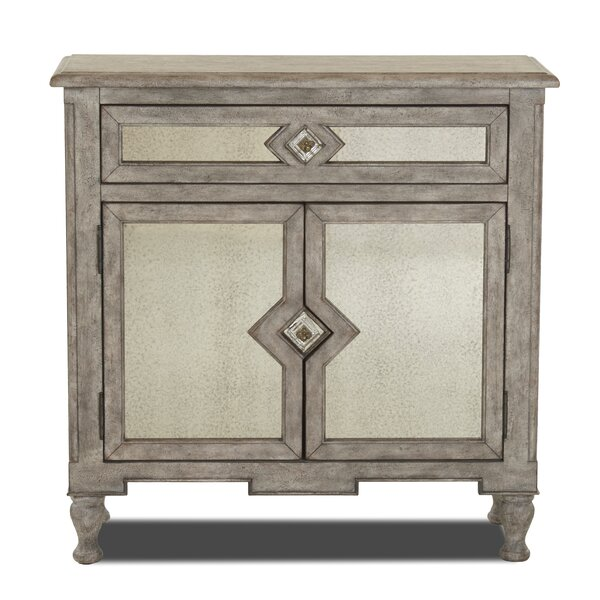 Thornell 2 Door Accent Cabinet by Bungalow Rose Bungalow Rose