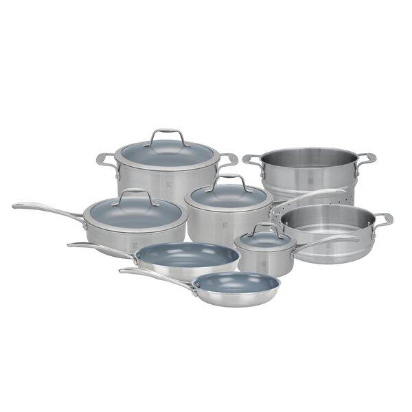 Spirit 12 Piece Non-Stick Stainless Steel Cookware Set by Zwilling JA Henckels