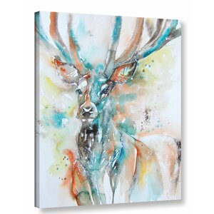 Stag 7 Painting Print on Wrapped Canvas by Latitude Run