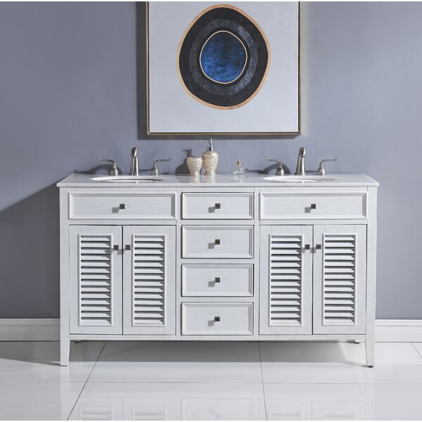 Sandburg 60 Double Bathroom Vanity Set