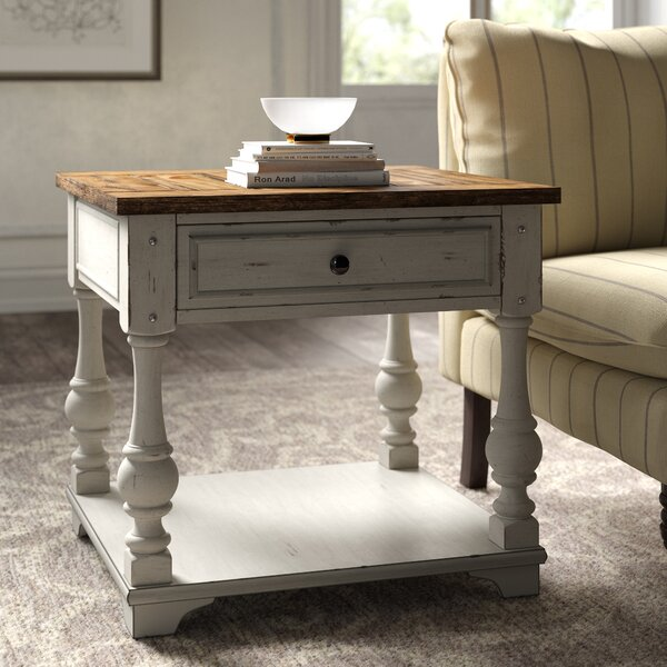 Belle Meade Solid Wood End Table With Storage By Kelly Clarkson Home