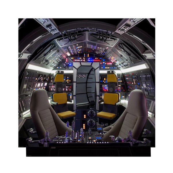 Cockpit of Millenium Falcon Backrop™ Star Wars Han Solo Movie Standup by Advanced Graphics