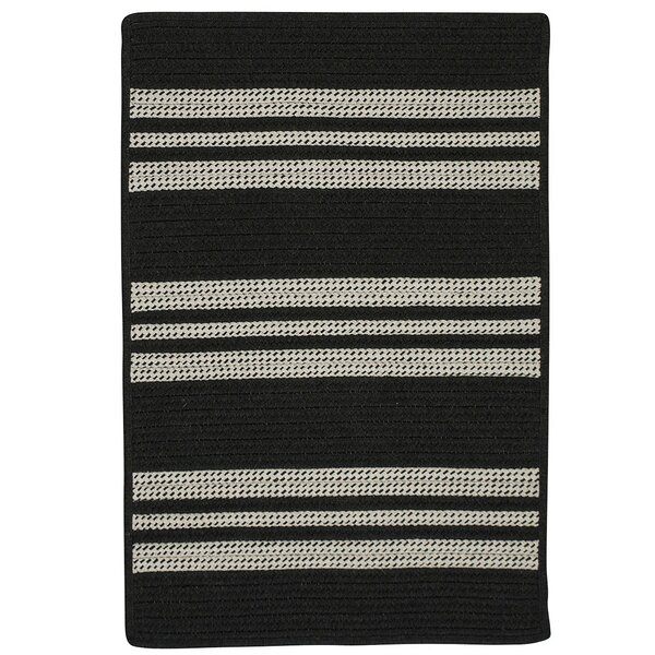 Neponset Hand-Woven Black Indoor/Outdoor Area Rug by Darby Home Co