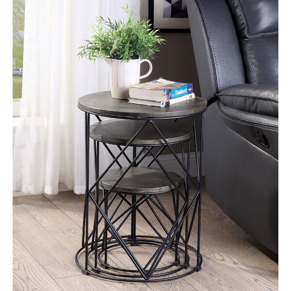 Outdoor Furniture Bessette Drum Nesting Tables