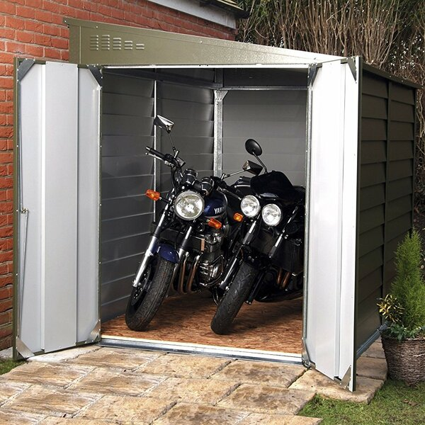6 ft. 3 in. W x 9 ft. 1 in. D Metal Lean-To Garage Shed by Rowlinson