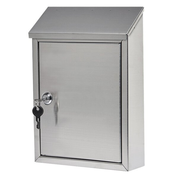 Gibraltar Ashley Stainless Steel Locking Wall Mounted Mailbox by SolarGroup