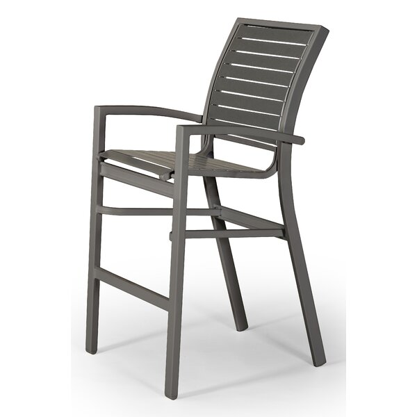 Kendall Contract Strap Stacking 26 Patio Bar Stool by Telescope Casual