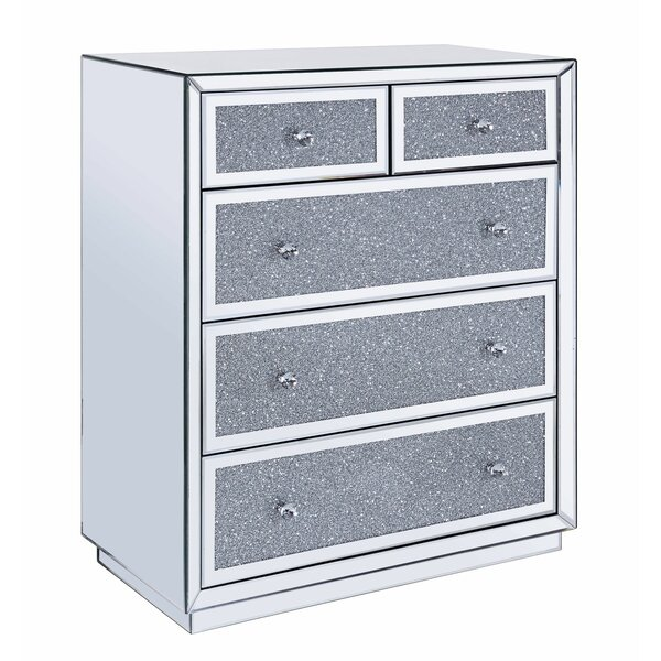 Addington 5 Drawer Mirrored Accent Chest by Everly Quinn Everly Quinn