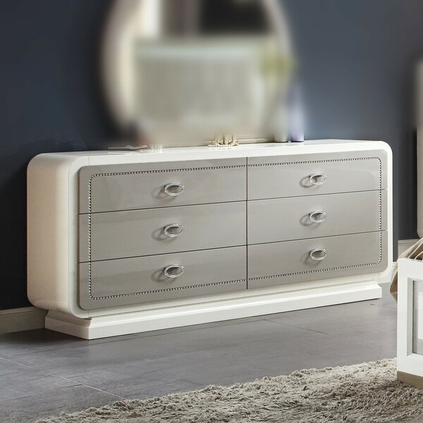 Severus 6 Drawer Double Dresser by Rosdorf Park