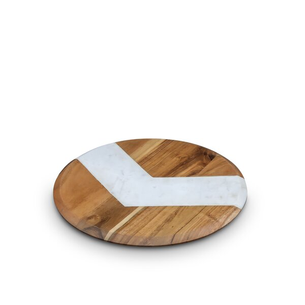 Hamler Round Cheese Board and Platter by Wrought Studio