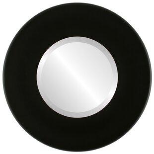 Ebern Designs Royals Framed Round Accent Mirror