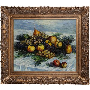 Pears and Grapes by Claude Monet Framed Painting by Tori Home