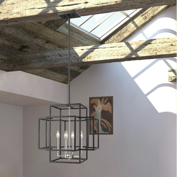 Bedingfield 4-Light Square/Rectangle Chandelier by Ivy Bronx