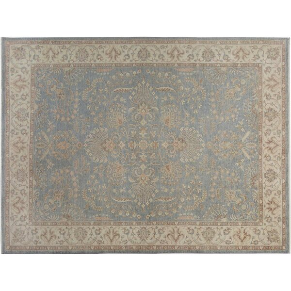 Xenos Hand-Knotted Rectangle Wool Gray/Ivory Indoor Area Rug by Astoria Grand