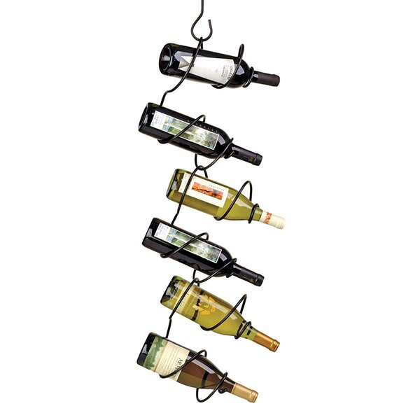 Climbing Tendril 6 Bottle Hanging Wine Bottle Rack by Oenophilia