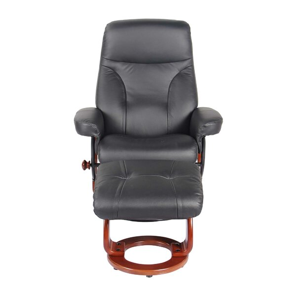 Moree Leather Manual Recliner with Ottoman [Red Barrel Studio]