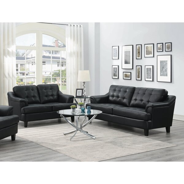Betina 2 Piece Leather Living Room by Ebern Designs Ebern Designs