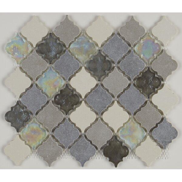 Benson 12.75 x 12 Limestone Mosaic Tile in Gris Et Blanc by Itona Tile