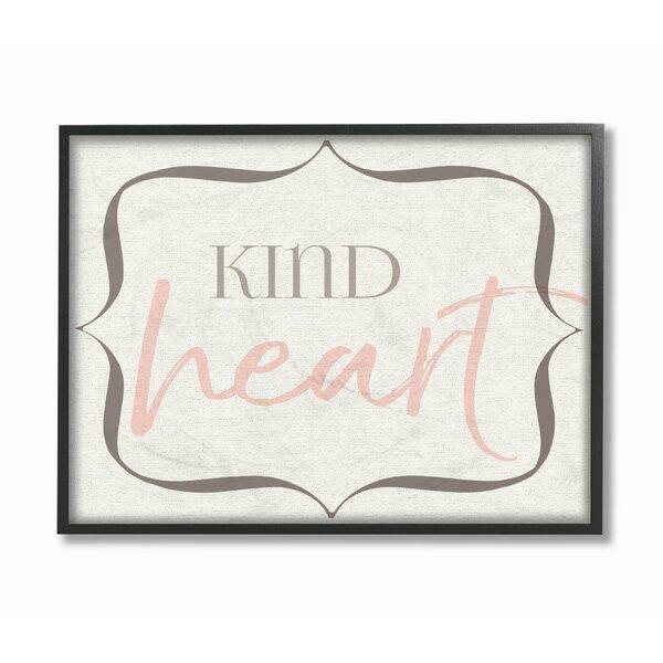Fenton Elegant Kind Heart Framed Art by Harriet Bee