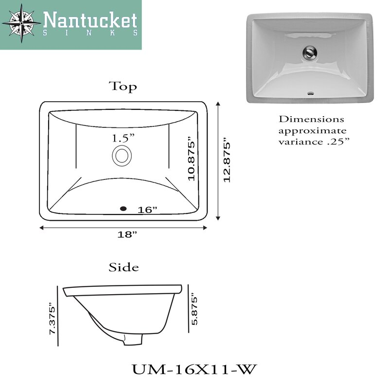 Nantucket Sinks Great Point Ceramic