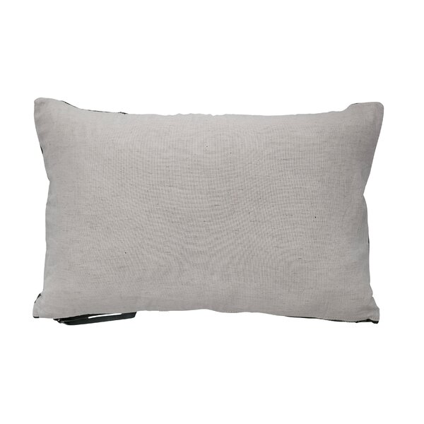Cozart Leather Quilted Lumbar Pillow by 17 Stories