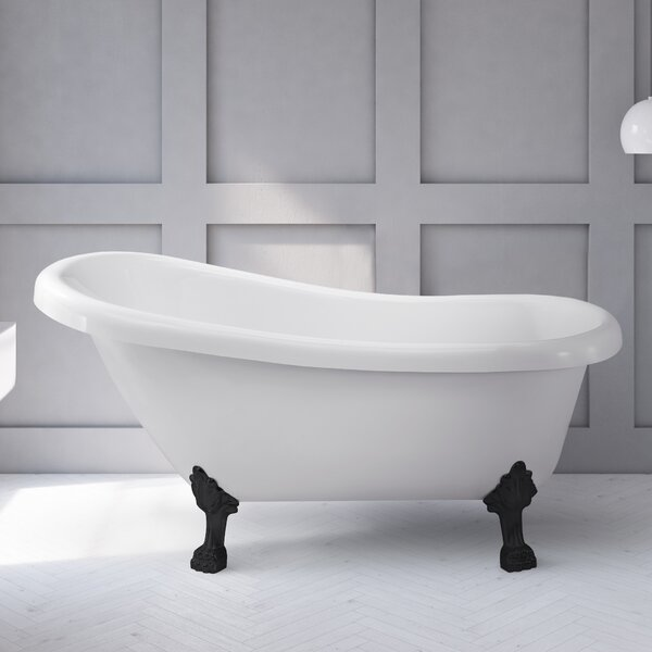 61 x 31.5 Freestanding Soaking Bathtub by Wildon Home ®