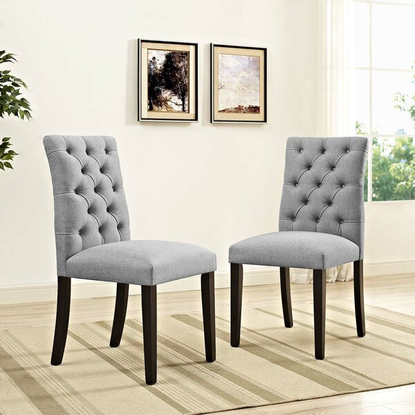Pfister Upholstered Dining Chair (Set of 2) by House of Hampton