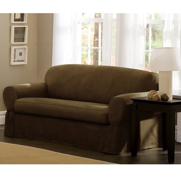Box Cushion Sofa Slipcover (Set of 2) by Maytex