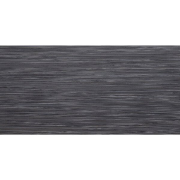 Fabrique 12 x 24 Porcelain Field Tile in Noir Linen by Daltile