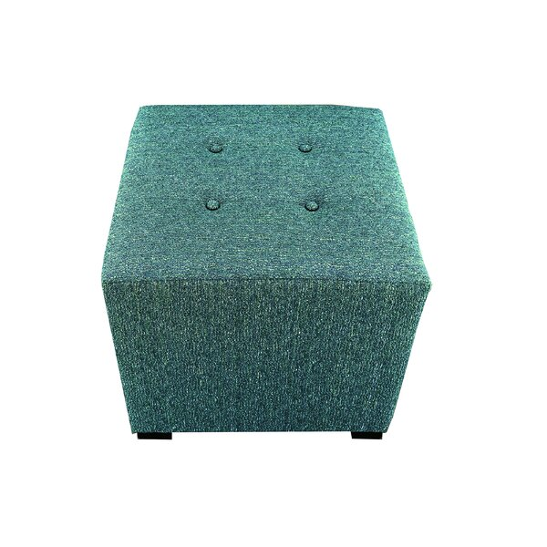 Hadlee Tufted Cube Ottoman by Winston Porter