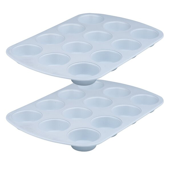 12 Cup Non-Stick Muffin Pan (Set of 2) by Range Kleen