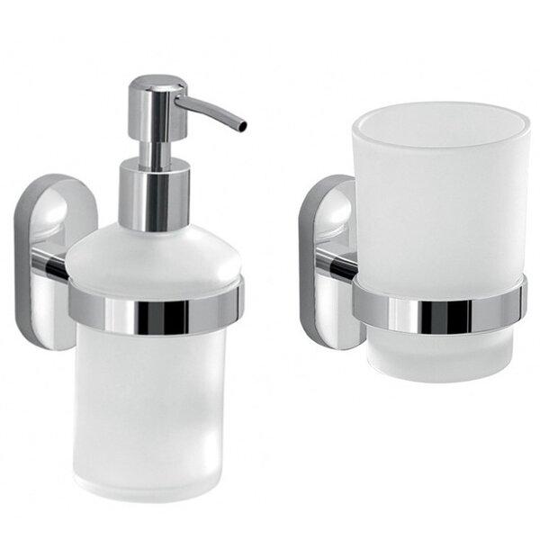 Febo 2-Piece Bathroom Accessory Set by Gedy by Nameeks