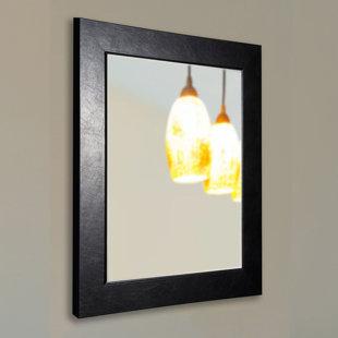 Brayden Studio Executive Black Wall Mirror