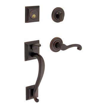 Madison Double Cylinder Handleset with Classic Interior Lever by Baldwin