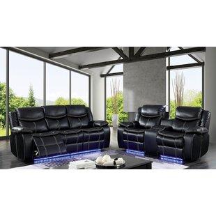 Helfer Contemporary Leather Power Wall Hugger Reclining Configurable Living Room Set ByRed Barrel Studio