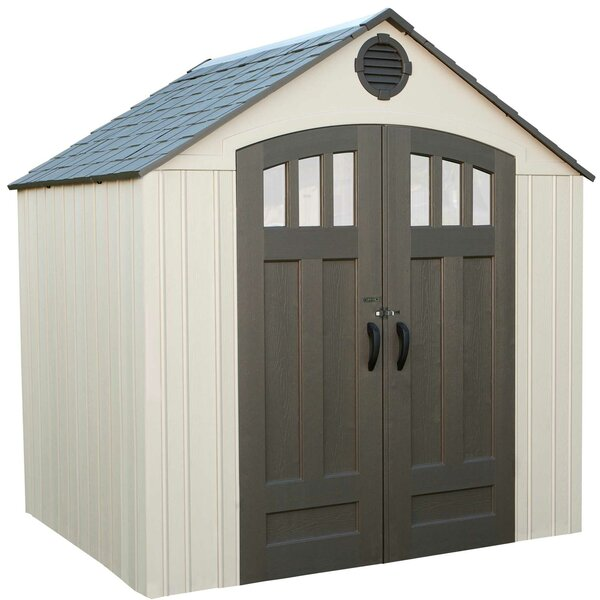 7 ft. 8 in. W x 6 ft. 2 in. D Plastic Storage Shed by Lifetime