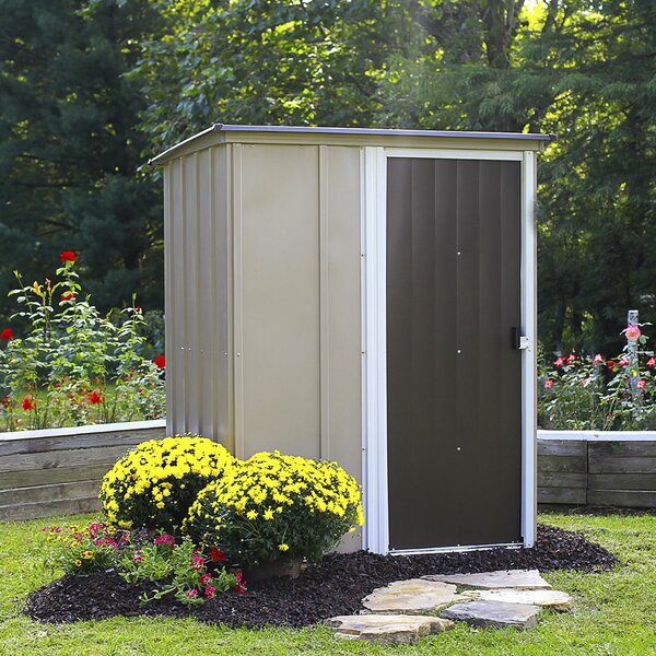 Brent 5 ft. W x 4 ft. D Metal Vertical Tool Shed by Arrow