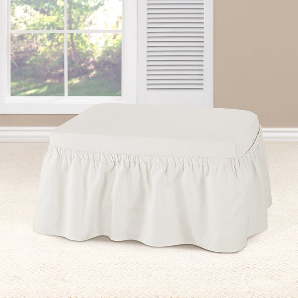 Essential Twill Ottoman Slipcover by Sure Fit