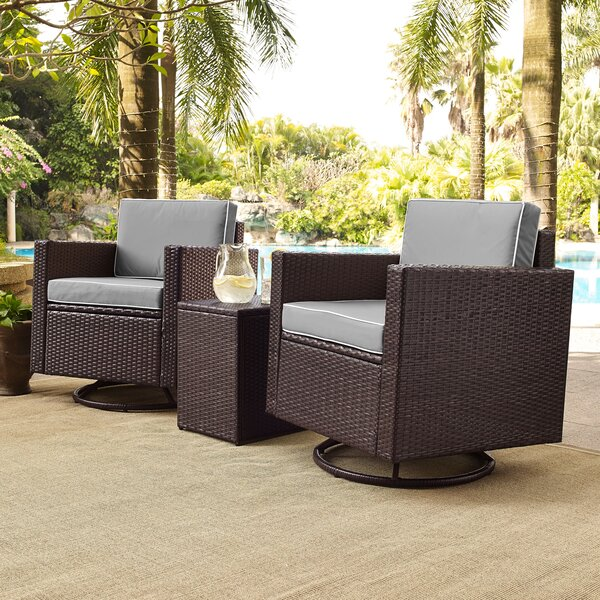 Belton 3 Piece Seating Group with Cushions by Mercury Row Mercury Row