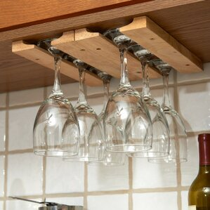 Wood Hanging Wine Glass Rack (Set of 4) by Fox Run Craftsmen