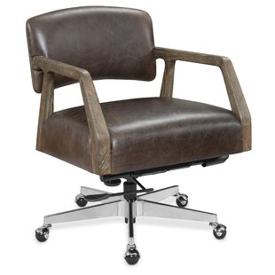 Mason Genuine Leather Task Chair by Hooker Furniture 2019 Sale