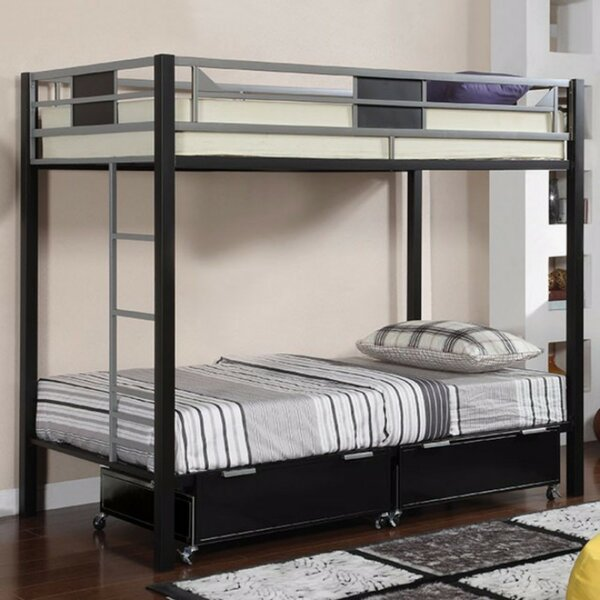 Auburnhill Twin Bunk Bed with Drawers by Harriet Bee