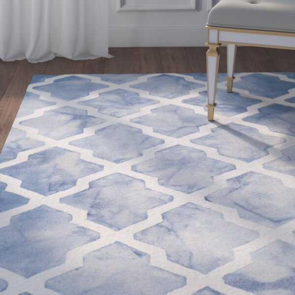 Hand-Tufted Blue/Ivory Area Rug by House of Hampton