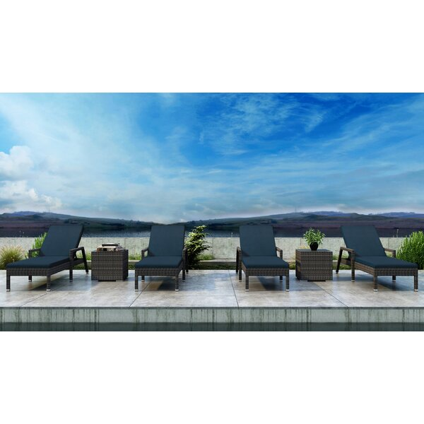Gilleland Sun Lounger Set with Cushions and Table by Orren Ellis