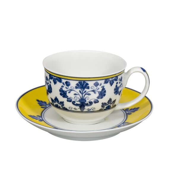 Castelo Branco Coffee Cup and Saucer (Set of 4) by Vista Alegre
